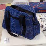 Blue Shweshwe Nappy Weekender Bag (front) - Kids Cove