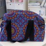 Mandala Shweshwe Nappy Weekender Bag (back) - Kids Cove