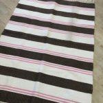 Brown & Pink Stripe Large Cotton Rug 150x100 - Kids Cove